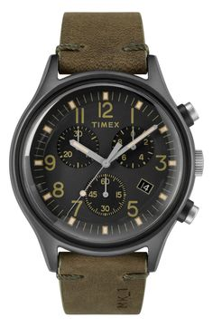 A Timex timepiece or strap means quality, craftsmanship, and style. A new Chronograph Steel Fabric Strap Watch is no different. Get yours today and shop Timex for watches and straps online. Mk1, Men's Watches, Timex Watches, Cheap Watches, Herren Chronograph, Mens Watches For Sale, Watch Sale, Mens Gift Sets, Eyeshadow Makeup