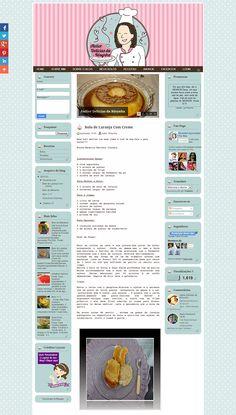 Cantinho do blog Layouts e Templates para Blogger: Blog de Culinária Personalizado Delícias da Rôsynha