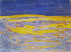 Piet Mondriaan | Dune Sketch in bright Stripes, 1909 30 x 40 cm Oil on cardboard Gemeentemuseum, The Hague