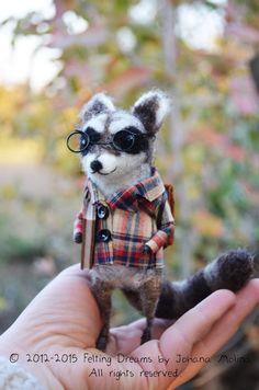 Mr.Raccoon - Felting Dreams by Johana Molina - Ready to Ship