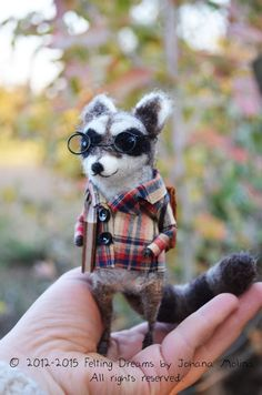 Mr.Raccoon  Felting Dreams by Johana Molina  by feltingdreams, Fieltro con aguja / Needle felt