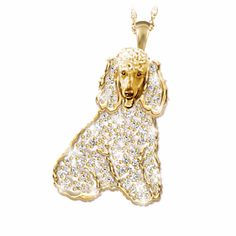 Poodle Best In Show Crystal Pendant Necklace