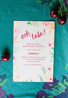 Bachelorette Brunch Invitation