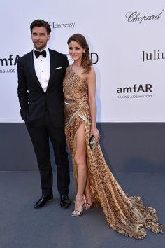 Johannes Huebl & Olivia Palermo. | 53 Bizarrely Glamorous Photos From The amFAR Gala Red Carpet
