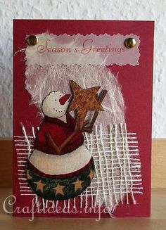 Christmas Card - When You Wish Upon a Star Snowman Greeting Card for the Holidays