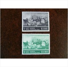 Ireland 1975 Europa CEPT mint set of stamps SG371-2 Castletown Hunt R Healy art on eBid United Kingdom
