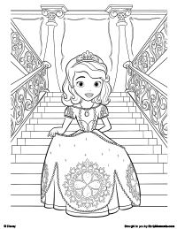 Coloring Clever Printable Sofia The First Pages Firs And Get This