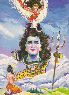 why lord shiva with ganga maa pictures to pin on Shiva Art, Shiva Shakti, Krishna Art, Hindu Art, Ganesha Art, Rishikesh, Shiva Meditation, Lord Shiva Hd Wallpaper, Ganesh Wallpaper