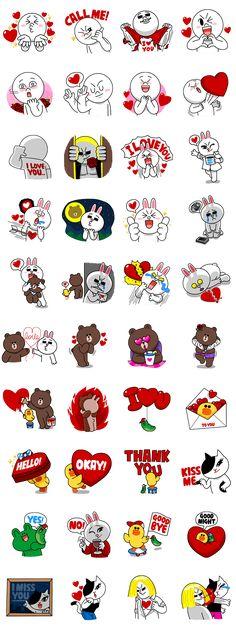 画像 - LINE Characters in Love! by Line - Line.me