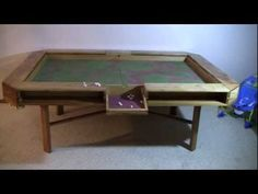 Gaming Table - Complete - YouTube (plans in the comments)