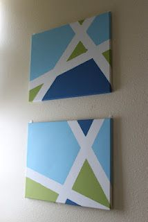 DIY tape paintings.  Super easy!
