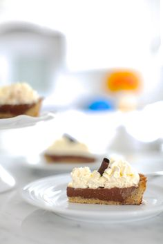 Chocolate Pudding Pie using coconut milk and with a grain-free crust