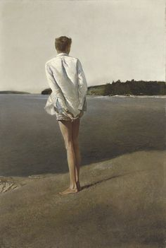 Above the Narrows, Andrew Wyeth. Above the Narrows - Painted in 1960 at Bradford's Point on the St. George River in Maine - embodies the most exceptional hallmarks of Andrew Wyeth's accomplishments in the tempera medium. Jamie Wyeth, Andrew Wyeth Paintings, Andrew Wyeth Art, Edward Hopper, John Singer Sargent, Portraits, Portrait Paintings, Art Moderne, Tempera