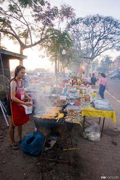 Street food à Vientiane, Laos  #laos #voyage #vientiane #manger #gastronomie #cuisine
