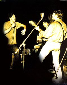 'THE BEATLES ANTHOLOGY' Book 1960-62 Hamburg On Stage at Top Ten Club Paul, John and George really having fun