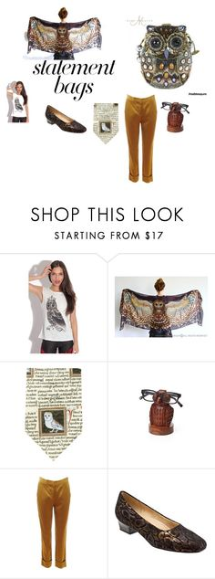 """""""Owl Be Back"""" by rocky-springs-vintage on Polyvore featuring Mary Frances Accessories, STELLA McCARTNEY, Trotters and statementbags"""