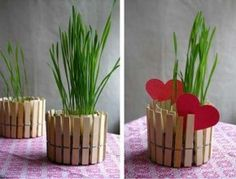 How to make a candlestick or a flower pot