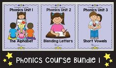 UPDATED 25 JULY 2016.English Unite Phonics is a six-part mini phonics course, especially developed for ESL learners. This bundle includes the first three workbooks and is suitable for younger learners. For product previews please click on individual units.Breakdown of the course bundle:Unit 1  The Alphabet.Unit 2  Blending letters.Unit 3  Short vowels.THE SECOND BUNDLE HAS BEEN REMOVED AND WILL BE UPLOADED AS SOON AS ALL THE UNITS HAVE BEEN UPDATED.