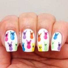 Easter is here. Do you want to use any Easter nail designs to celebrate the holiday? We have collected dozens of simple Easter nail designs, they are very easy to complete, let's take a look . Nail Art Designs, Easter Nail Designs, Easter Nail Art, Nails Design, Cute Nails, Pretty Nails, Hair And Nails, My Nails, Oval Nails