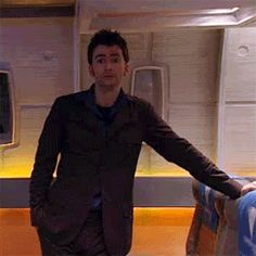 Discover & share this Animated GIF with everyone you know. GIPHY is how you search, share, discover, and create GIFs. David Tennant Doctor Who, 10th Doctor, Torchwood, Geronimo, Time Lords, Dr Who, Tardis, Future Husband, Animated Gif
