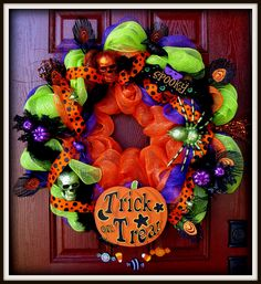 My decomesh wreath for Halloween