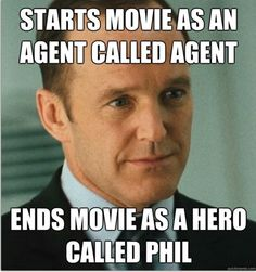 Awww, Agent Phil Coulson <3