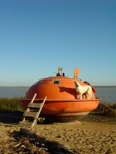 The Capsule Hotel in The Hague lets guests feel like they are castaways from a shipwreck. These bright orange pods were originals survival pods from an oil rig and now serve guests who are looking for a little adventure in their vacation. (Capsule Hotel)