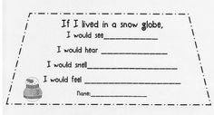 If I lived in a snow globe writing template-potential bulletin board