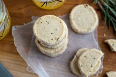 Buttery shortbread cookies infused with sweet and tangy citrus and a subtle earthy herbal note from rosemary.
