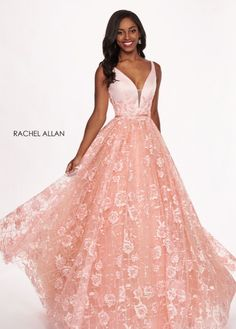Rachel allan 6431 blush v-neck ball gown prom dress – rsvp prom and pageant Long Prom Gowns, Ball Gowns Prom, Blush Pink Prom Dresses, Wedding Dresses, Prom Dress Stores, Gowns Of Elegance, Evening Gowns, Machine Video, Slot Machine