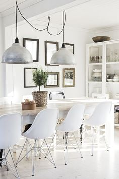 White and bright dining room