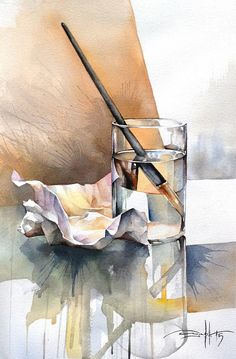 Private art courses and Workshops. Watercolor Journal, Watercolor Painting Techniques, Watercolor Landscape Paintings, Watercolor Paintings, Watercolor Illustration, Watercolour, Still Life Drawing, Still Life Art, Art Sketches