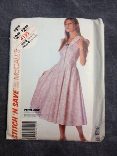 80's McCall's 4152 Stitch 'N Save Laura Ashley by ElkHugsVintage, $5.00