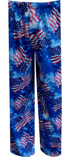 American Flag Tie Dye Lounge Pant Perfect for the patriot in you! These lounge pants for men are a whimsical take on a classic ...