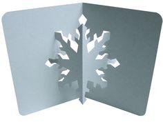 Comme je sais que vous aimez la neige, voici un nouveau modèle de kirigami flocon... rapide et facile à faire!!! Un patron a imprimer ici Bonne création à tous!!