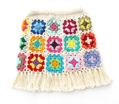 Cute granny square skirt for toddler