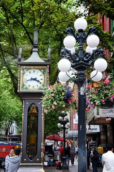The Steam Clock in the Gastown District in Downtown Vancouver, Canada