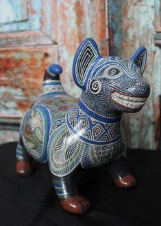 Colima Dog Tonala Pottery Ceramics Jalisco Mexico - Wonderful gift for Dog Lover