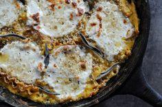 Butternut squash skillet lasagna