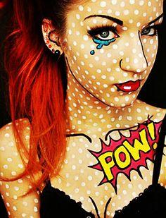 Pop-Art Makeup Style c: