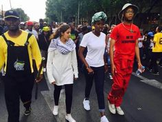 South Africa is going through a bit of a revolution & I'm proud to be part of the generation that led it. This is our Fantastic 4 that brought it to life - Mcebo Dlamini, Shaeera Kalla, Nompendulo Mkatshwa & Vuyani Pambo. #NationalShutdown #FeesMustFall #FreeEducation #SouthAfrican #UnionBuildings