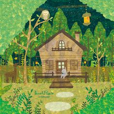 Peaceful House. 森で見つけた穏やかな家と、優しい星空。 穏やかになれる場所。 By Megumi Inoue. http://sorahana.ciao.jp/