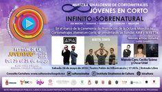 El Festival de la Juventud Sinaloa 2016 presenta dentro de sus actividades la Ceremonia de Premiación de la Octava Muestra de Cortometrajes Jóvenes en Corto. Sábado 28 de mayo de 2016 en el Teatro Pablo de Villavicencio, a las 17:30 horas. Entrada libre. #Culiacán, #Sinaloa.
