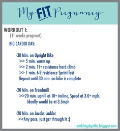 Some of my friends have asked about my workouts while pregnant so I am posting them here. Click for link. Pregnancy Workout, Fitness, Pregnant