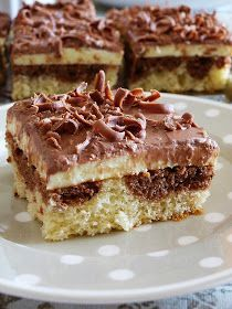 Czech curd cake with chocolate My Favorite Food, Favorite Recipes, Czech Recipes, Healthy Diet Recipes, Sweet And Salty, Something Sweet, Sweet Recipes, The Best, Sweet Tooth