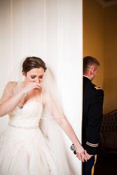 James and Amanda's #memphis wedding. Photo // Evan David Photography #firstlook