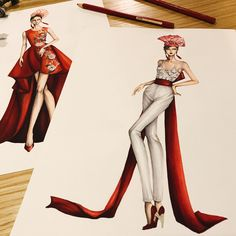 in red for my client! Source by annburc dress drawingady in red for my client! Source by annburc dress drawing Fashion Illustration Sketches, Fashion Sketchbook, Fashion Sketches, 3d Fashion, Fashion Models, Fashion Outfits, Croquis Fashion, Fashion Drawing Dresses, Drawing Fashion