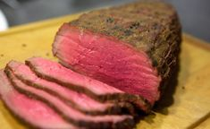 Perfekt grillet roastbeef er langtidsstegt Barbecue, Steak, Pasta, Snacks, Dishes, Roast Beef, Appetizers, Barrel Smoker, Tablewares