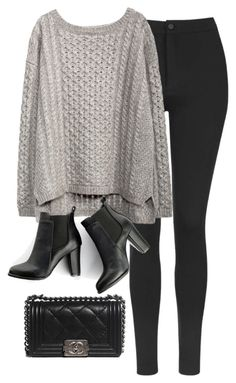 """""""Untitled #564"""" by fashionista4427 ❤ liked on Polyvore featuring Topshop, SWEET MANGO and Chanel"""
