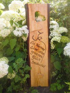 Hochzeit ♥♥Spruch auf Holzbohle ♥♥ - ein Designerstück von Annegret-Lindhorst bei DaWanda